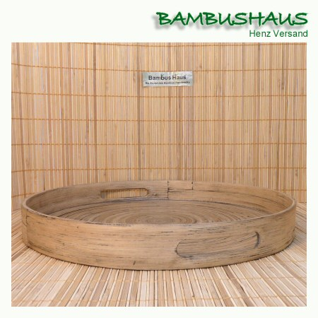 Bambus-Tablett  Grau
