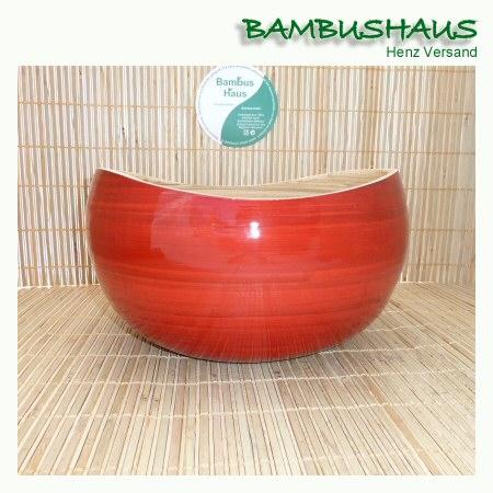 bambus schale hoch rot natur bambusartikel schalen accessoires bambushaus henz versand. Black Bedroom Furniture Sets. Home Design Ideas