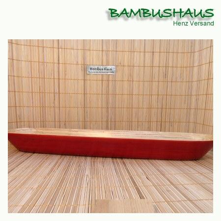 baguette schale bambus rot matt l bambusartikel. Black Bedroom Furniture Sets. Home Design Ideas