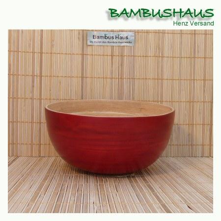 bambus schale bootf rmig rot innen matt s bambusartikel schalen accessoires. Black Bedroom Furniture Sets. Home Design Ideas