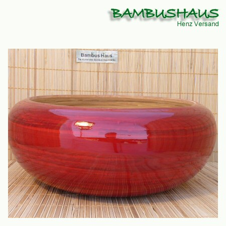 bambus schale wellness rot glanz l bambusartikel schalen accessoires bambushaus henz. Black Bedroom Furniture Sets. Home Design Ideas