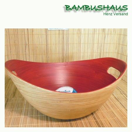bambus korb rot innen l bambusartikel schalen accessoires bambushaus henz versand. Black Bedroom Furniture Sets. Home Design Ideas
